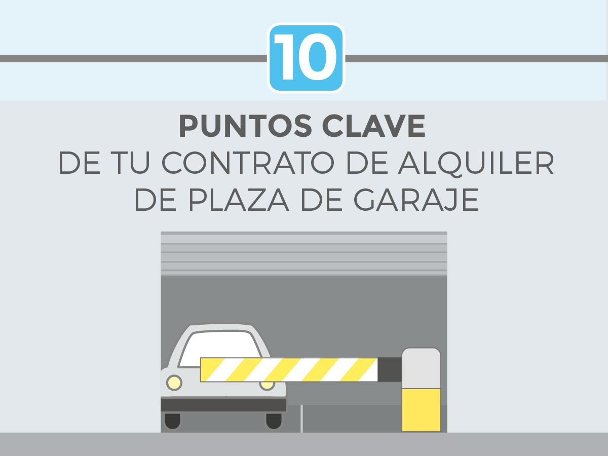 Infograf a 10 puntos clave de tu contrato de alquiler de for Alquiler de garajes en madrid
