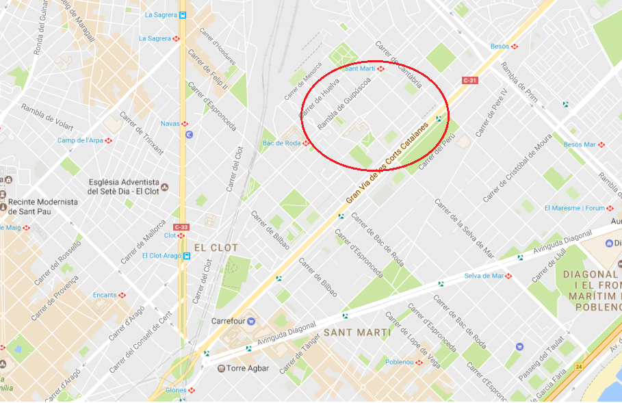 lote de 5 plazas con inquilino en barcelona