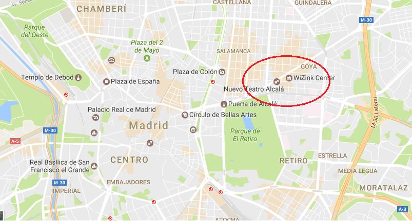 mapa-PARKING-PÚBLICO-EN-EL-CENTRO-DE-MADRID