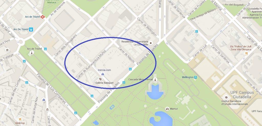 ubicación-aparcamiento-alquiler-parc-de-la-ciutadella